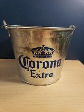Corona Extra Beer Bottle Metal Galvanized Tin Bucket Mexico