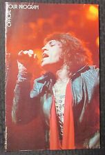 """1975 ROLLING STONES Tour of the Americas PROGRAM 9x14"""" FN- 5.5 Mick Jagger"""