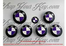 WHITE & PURPLE Badge Emblem Overlay WRAP FOR BMW HOOD TRUNK RIMS @FITS ALL BMW@