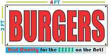2x4 BURGERS Banner Sign NEW Discount Size - Best Quality for The $$$