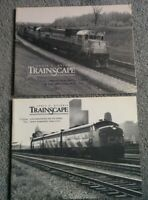 TRAINSCAPE B&W SC Book  VOL 1 & 2  ZVIDRIS 1968 - 1979 Ontario CN Toronto Train