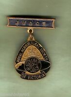 #D257.  VICTORIA   ROYAL AGRICULTURAL SOCIETY  JUDGE LAPEL BADGE, BLACK