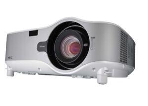 NEC NP-M3151W 3-LCD WXGA Conference Room Projector 4000 Lumens 720p, 1080i,