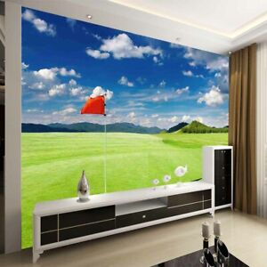Single Green Degree 3D Full Wall Mural Photo Wallpaper Printing Home Kids Decor