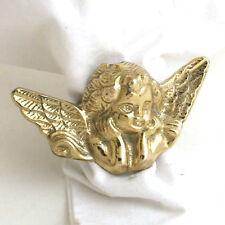 Brass Cherub Angel Napkin Ring - Set of 4
