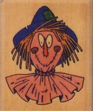 scarecrow face that's all she stamped Wood Mounted Rubber Stamp  2 1/2 x 2""