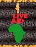 LIVE AID 1985 CONCERT PROGRAM BOOK-MADONNA-OZZY-DYLAN-LED ZEPPELIN-DURAN DURAN