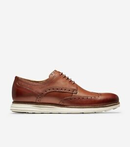 Cole Haan Original Grand Wingtip C26471 Mens Oxford Brown Leather Shoes Sz 11.5