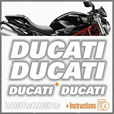 4pcs kit Adesivi Bianco compatibile con Moto Ducati Monster 696 769 999