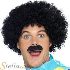 Scouser perruque & moustache Set-COSTUME ROBE FANTAISIE ACCESSOIRE 80s Tash + Afro