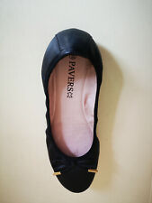 Pavers Womens Black Leather Shoes Size 6