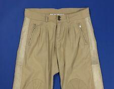 Twin set pantalone donna usato chino W30 tg 44 beige relaxed comodo pants T4581