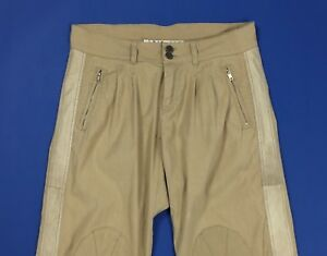 Twin set pantalone donna usato chino W30 tg 44 beige relaxed comodo pants T4581