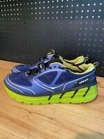 Hoka One One Conquest Mens Size 12 Running Sneakers Shoes Blue Lime Green