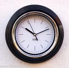 Uhr Wanduhr Bad Badezimmer Baduhr Quarzuhr Badezimmeruhr Design modern schwarz