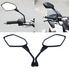 2pcs Universal Black Motorcycle Motorbike Rearview Rear View Side Mirror 10mm