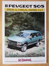 PEUGEOT DANGEL 505 4X4 BREAK & FAMILIAL orig 1980s French Mkt Brochure Depliant