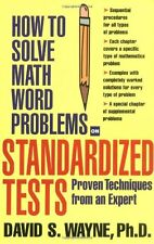 How to Solve Math Word Problems on Standardized Te