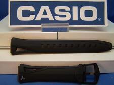 Casio Watch Band STR-300 C. Black Rubber Phys Chrono Lap Memory 60 Strap