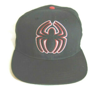 Marvel Cap Black Ultimate Spiderman Snapback Hat One Size Fits All