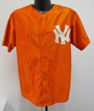 NEW YORK YANKEES MEDIUM JERSEY ORANGE MAJESTIC STITCH MENS MLB BASEBALL VINTAGE
