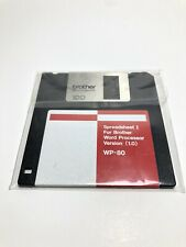 """Spreadsheet Version I (1.0) Software WP-80 Brother Word Processor 3.5"""" Floppy"""