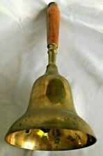 "Wood & Brass 5.5X14"" Large School Bell"