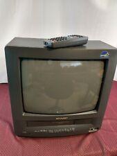 "Vintage Sharp 13VT-J100 13"" CRT TV VCR Retro Gaming Combo VHS Recorder & Remote"