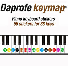 Daprofe Piano Keyboard Note Stickers Key Labels Decals Learn Scales Chords