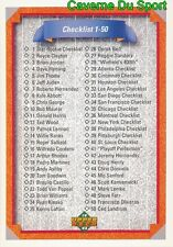 100 CHECKLIST 1-100 CL  BASEBALL CARD UPPER DECK 1992