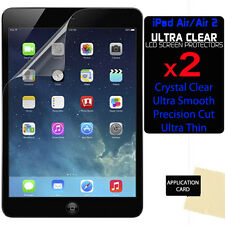 2 x CLEAR LCD Screen Protector Guards for Apple iPad Air 2 / iPad 6 6th Gen