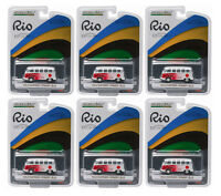 GREENLIGHT 1:64 SCALE RIO GAME JAPAN VW VOLKSWAGEN SAMBA BUS 6 PCS 51037