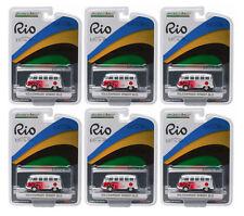 GREENLIGHT 1:64 SCALE RIO GAME JAPAN VW VOLKSWAGEN SAMBA BUS 6 PCS 51037