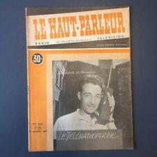 LE HAUT-PARLEUR revue Radio, Electronique, Télévision N° 826 du 23 sept 1948