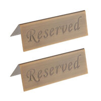 2x Stainless Steel Reserved Table Sign Restaurant Holder for Reserving Seats
