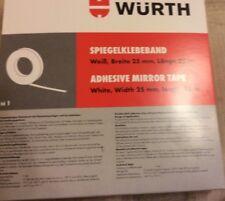 Cinta adhesiva de espejo Würth. Blanco 25 Mm x 25 metros correcciones coche matrícula Trims