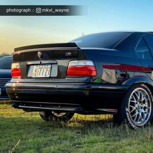 Painted LRS L Type Fit For BMW E36 3 Series 4DR Rear Trunk Lip Spoiler 1991-1999