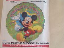 """18"""" Foil balloon Mickey Mouse CONGRATULATIONS # 08300"""