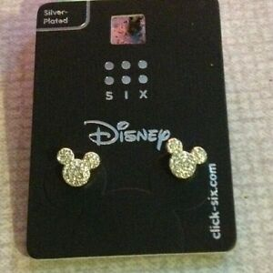 Disney mickey mouse silver plated  earing studs