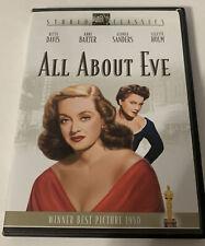 All About Eve (Studio Classics Dvd, 2002) Bette Davis Anne Baxter.