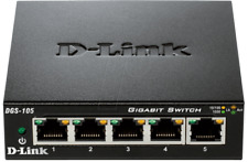SWITCH D-LINK 5 PORTS GIGABIT DGS-105 NEUF BOITE ORIGINE