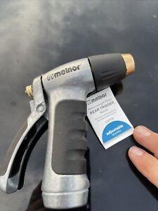 Melnor Adjustable Outdoor Hose Sprayer Nozzle Heavyweight Metal Rear Trigger