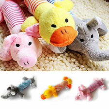 Cute Pet Puppy Chew Squeaker Squeaky Plush Sound Pig Elephant Duck Dog Play Toys