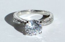 Tacori Platinum Hand Engraved Semi Mount Ring Setting Size 6.25 Retail $2590.