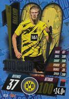 Match Attax 2020/21 Champions League #CL10 Erling Haaland (B Dortmund) 100 CLUB