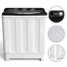 24lbs Washing Machine Twin Tub Portable Washer Spinner Dryer Compact Laundry