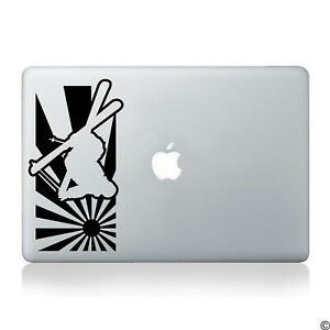 Skier and Japanese Sun Vinyl Decal - fits cars, windows, laptops and more K032