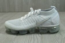 52 Nike Air VaporMax Flyknit 2 Running Shoes Womens 7 7.5 Vast White 942843-105