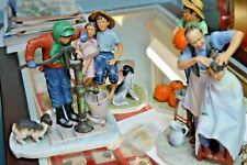"""Norman Rockwell Gorham Set Of 4 Porcelain Figurines Going On 16 """"Four Seasons"""""""
