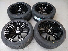 "20"" BM820 Staggered Alloy Wheel and Tyre Set of 4 to fit BMW X5 GLOSS BLACK"